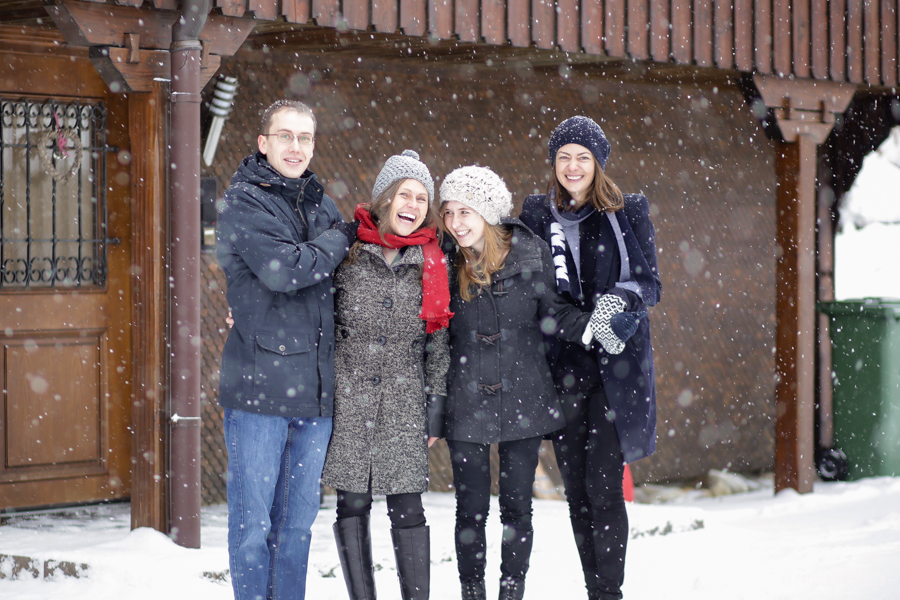 Familien Fotoshooting im Winter